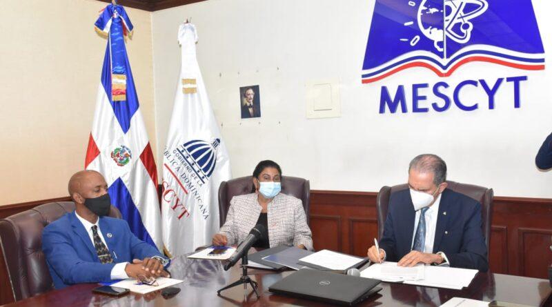 MESCYT firma un acuerdo de educación inclusiva con la Universidad de Alicante, España