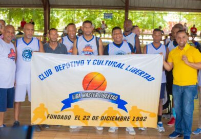 Omy Peña, patrocinador oficial Club de básketball Libertad en 9no torneo Liga de Baloncesto de SDN
